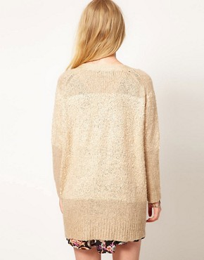 Image 2 ofMinkpink &#39;Sands of Time&#39; Textured Slouchy Cardigan