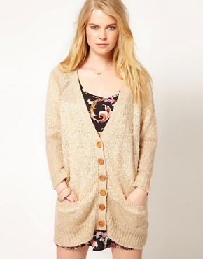 Image 1 ofMinkpink &#39;Sands of Time&#39; Textured Slouchy Cardigan