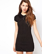 Wal G Knitted Dress With Printed Polka Dot