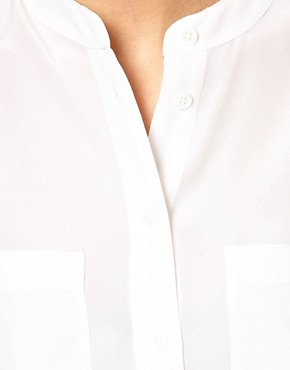 Image 3 ofEquipment Carmen Silk Shirt with Epaulette Detail