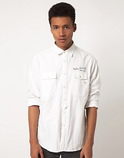 Replay Stitch Logo Chambray Shirt
