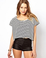 American Apparel Stripe Loose Crop Top