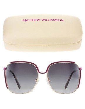 Image 2 ofMatthew Williamson Retro Square Sunglasses