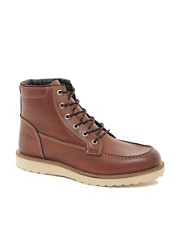 Jack &amp; Jones Logger Moc Toe Boots