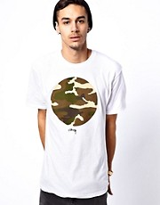 Stussy T-Shirt Camo Circle