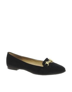 Image 1 ofASOS MARSHMALLOW Loafers with Trim