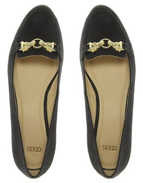 Image 3 ofASOS MARSHMALLOW Loafers with Trim