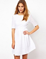Jarlo Skater Dress With Cut Work