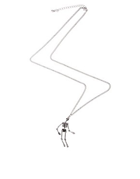 Image 2 ofASOS Moving Skeleton Necklace