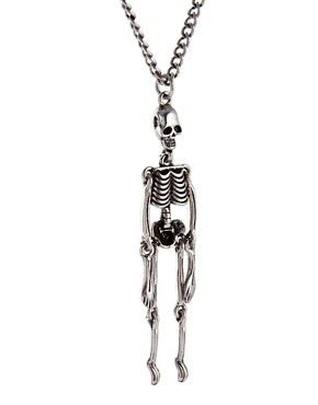 Image 4 ofASOS Moving Skeleton Necklace