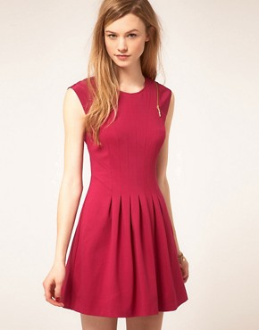 Image 1 ofTed Baker Zip &amp; Pleat Dress