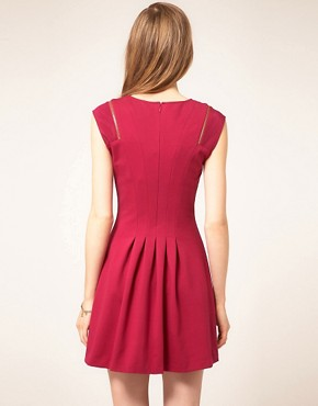 Image 2 ofTed Baker Zip &amp; Pleat Dress