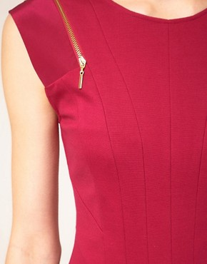 Image 3 ofTed Baker Zip &amp; Pleat Dress