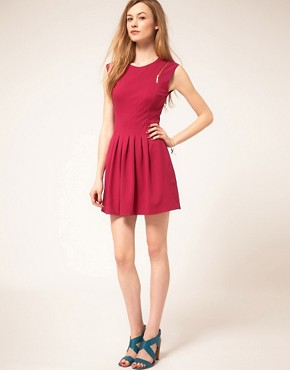 Image 4 ofTed Baker Zip &amp; Pleat Dress