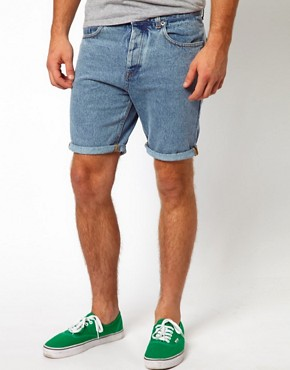 Image 2 ofASOS Denim Shorts With Contrast Pocket