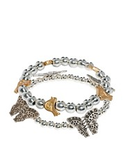 Bibi Bijoux Bracelet Set with Bird and Butterfly Charms