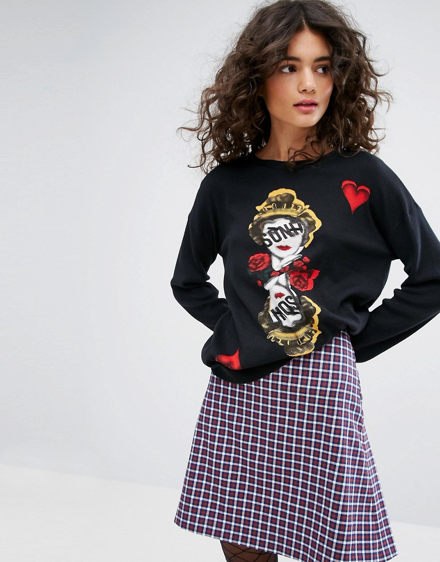 Sonia By Sonia Rykiel Face Intarsia Knit Jumper - Multi