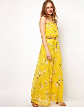 Image 4 ofJarlo Belted Maxi Dress in Floral Print