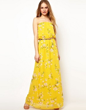 Image 1 ofJarlo Belted Maxi Dress in Floral Print