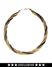 Susan Caplan Exclusive For ASOS Vintage 80s Slinky Plait Necklace