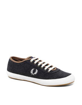 Image 1 ofFred Perry Exclusive to ASOS Woodford Wool Plimsolls