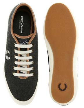 Image 3 ofFred Perry Exclusive to ASOS Woodford Wool Plimsolls