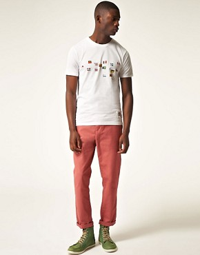 Image 4 ofPaul Smith Jeans Slim Fit Multi Flag T-Shirt
