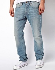 Vaqueros tapered amplios de orillo de colores vintage ED-55 de Edwin