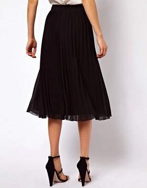 Image 2 ofASOS Midi Skirt with Pleats
