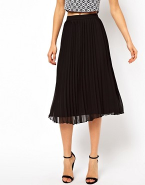 Image 4 ofASOS Midi Skirt with Pleats