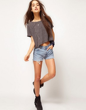 Image 4 ofASOS Crop Textured T-Shirt