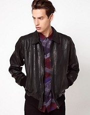 Code Leather Jacket Classic Bomber