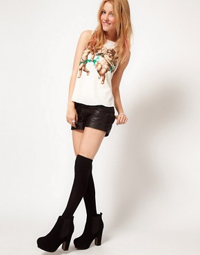 Image 4 ofWildfox Cherubs Cropped Vest