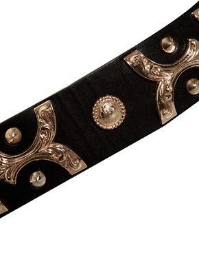 Image 2 ofASOS Brocade Metal Plate Waist Belt