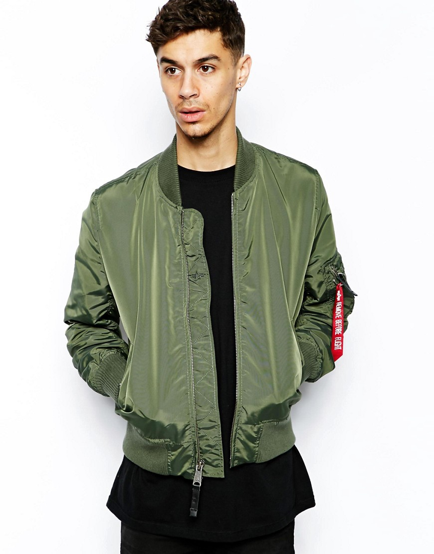 alpha industries alpha industries ma1 bomber jacket at asos. Black Bedroom Furniture Sets. Home Design Ideas