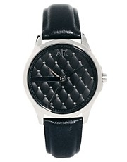 Armani Exchange Black Logo Watch