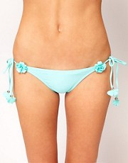 River Island Flower Tie Side Bikini Brief