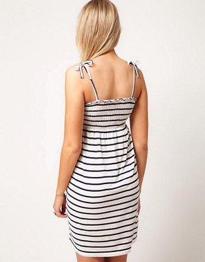 Image 2 ofASOS Maternity Sundress In Stripe With Tie Shoulders