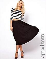 ASOS PETITE Full Skater Skirt In Longer Length