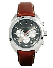 Michael Kors Dean Watch Leather Strap MK8294