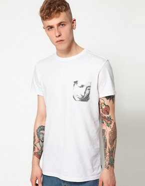 Image 1 of55DSL T-Shirt Little White Lies Online Exclusive Sculpture Pocket