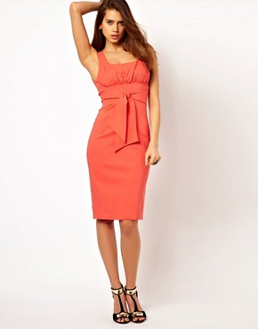 Image 1 ofVesper Pencil Dress with Tie Front