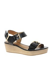River Island Buckled Low Flatforms