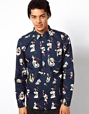 Mishka Shirt Long Sleeve Ruins Print