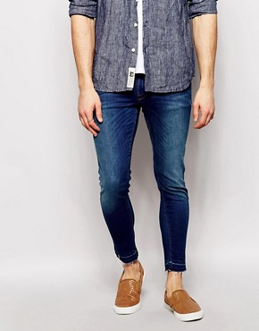 ASOS Extreme Super Skinny Jeans With Raw Hem