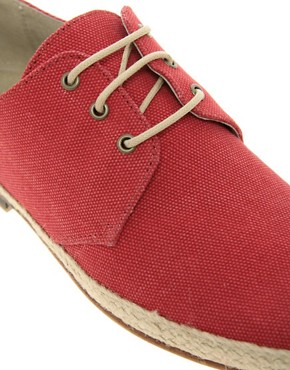 Image 2 ofASOS Leather Sole Jute Wrap Canvas Derby Shoes