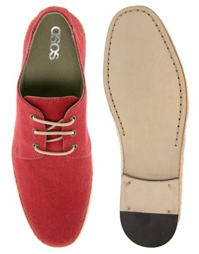 Image 3 ofASOS Leather Sole Jute Wrap Canvas Derby Shoes