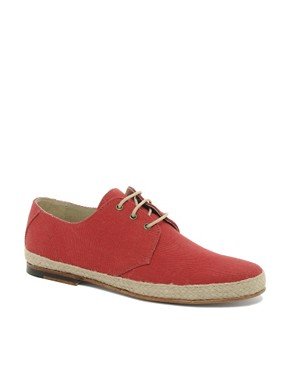 Image 1 ofASOS Leather Sole Jute Wrap Canvas Derby Shoes
