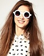 Image 3 of ASOS Round Color Block Sunglasses