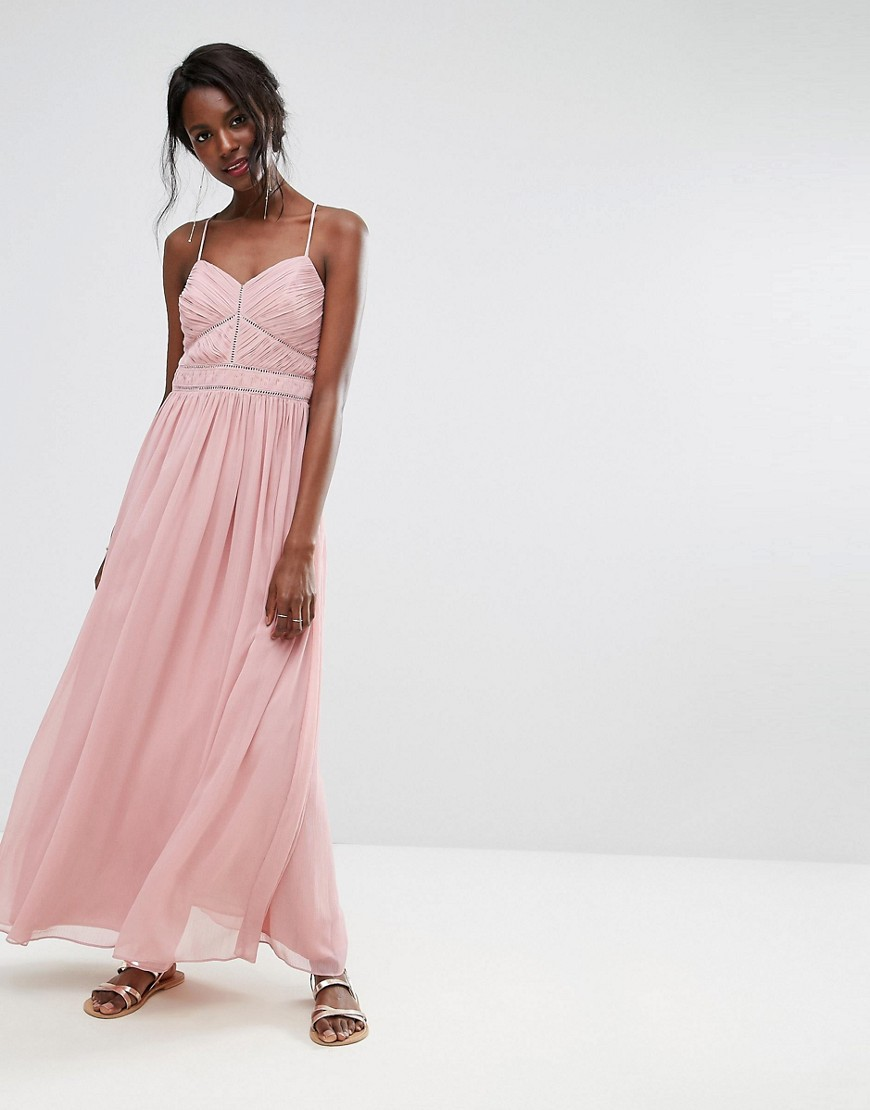 Oasis Chiffon Maxi Dress - Pink